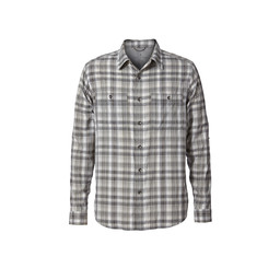 Royal Robbins Vista Dry Plaid L/S Shirt in Lt Pewter