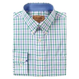 Schoffel Country Holkham Classic Shirt in Marine/Pink/Green