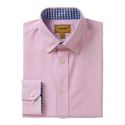 Schoffel Country Soft Oxford Tailored Shirt in Pale Pink