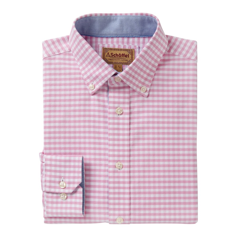 Soft Oxford Tailored Shirt Pale Pink Gingham