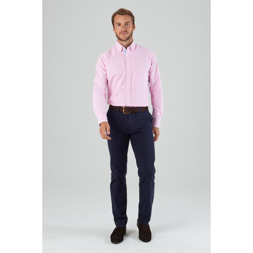 Soft Oxford Shirt Pale Pink Gingham