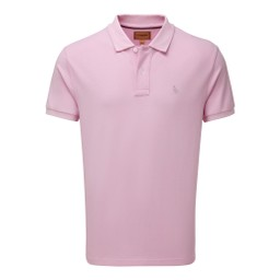 Schoffel Country St Ives Tailored Polo Shirt in Pale Pink