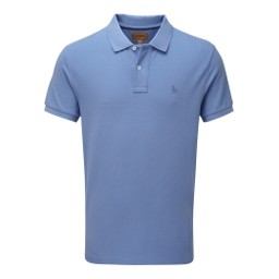 Schoffel Country St Ives Polo Shirt in Cornflower Blue