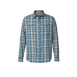 Royal Robbins Vista Dry Plaid L/S Shirt in Viridian Green