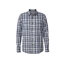 Royal Robbins Vista Dry Plaid L/S Shirt in Deep Blue