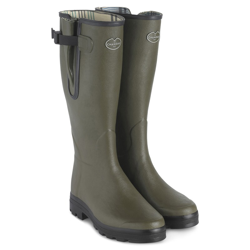 Men's Vierzon Jersey Lined Wellington Boots -