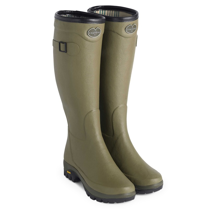 Women's Country Vibram Jersey Wellington Boots -