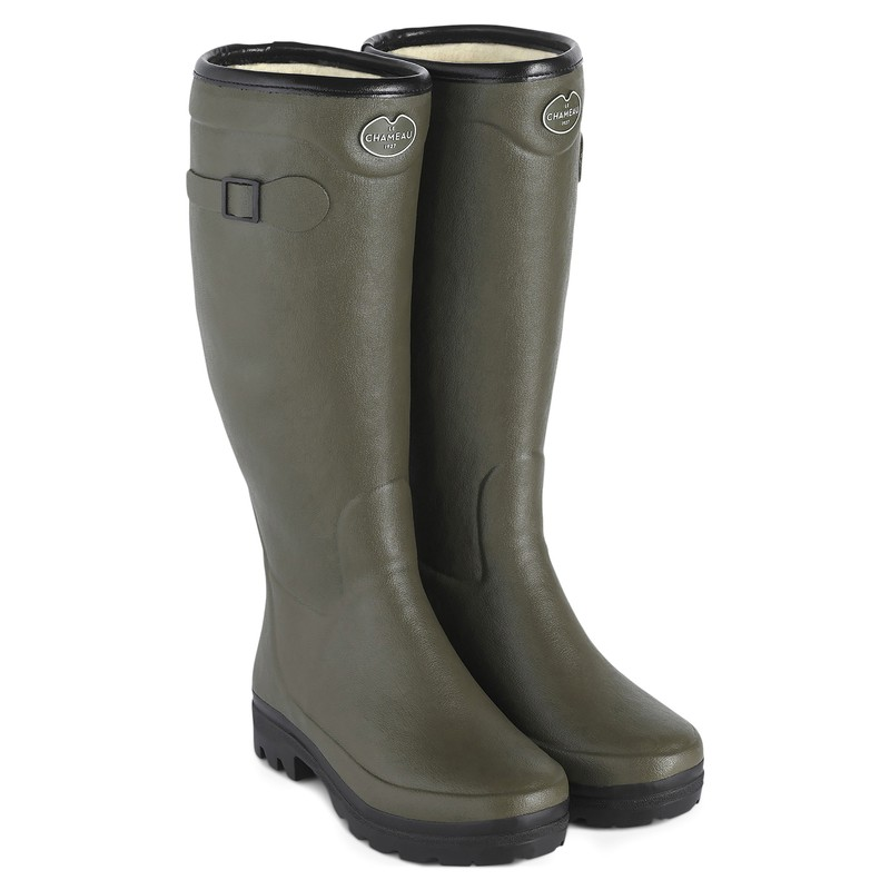 Women's Country Wool Lined Wellington Boots