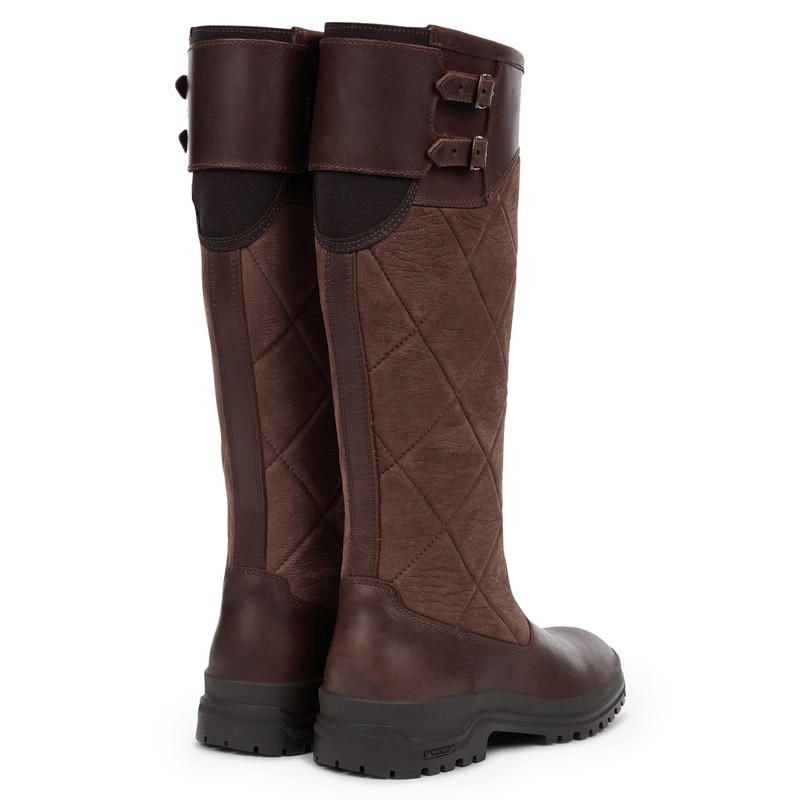 Women's Jameson Quilted Leather Wellington Boots -