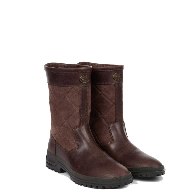 Women's Jameson Mid Leather Wellington Boots