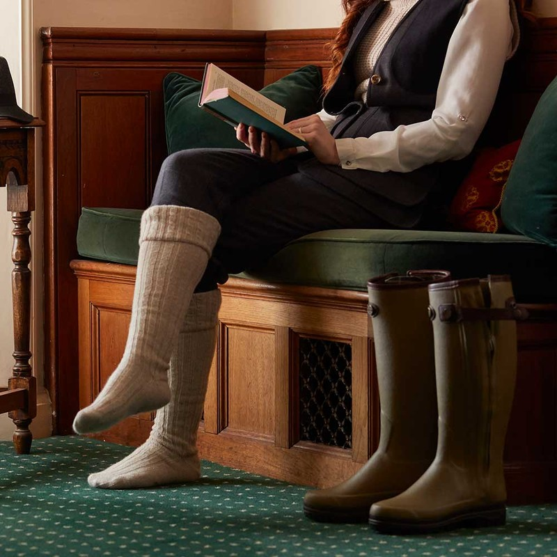 Women's Chasseur Prestige Leather Lined Wellingtons -
