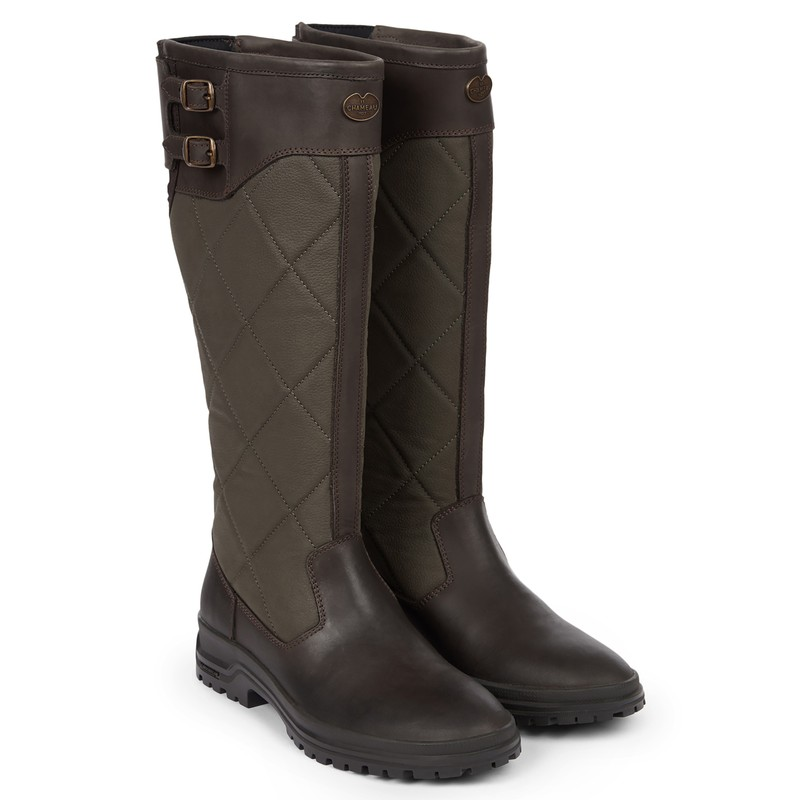 Women's Jameson Quilted Leather Wellington Boots