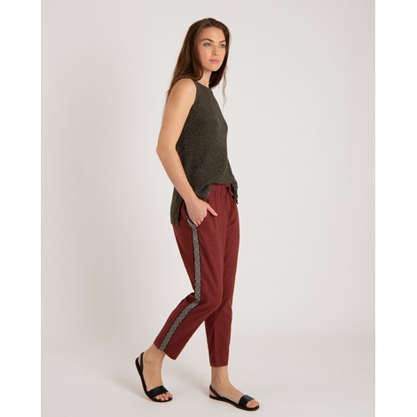 Kiran Cropped Pant Ganden Red