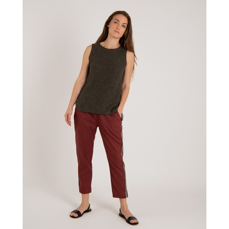 Kiran Cropped Pant - Ganden Red