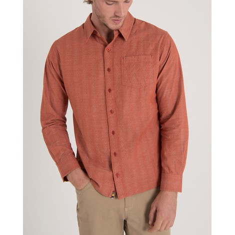 Arjun Long Sleeve Shirt Teej Orange