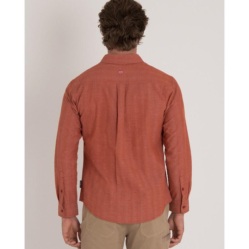 Arjun Long Sleeve Shirt - Teej Orange