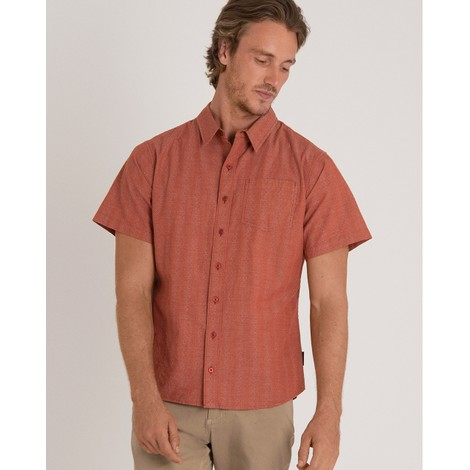 Sherpa Adventure Gear Arjun Short Sleeve Shirt  in Teej Orange