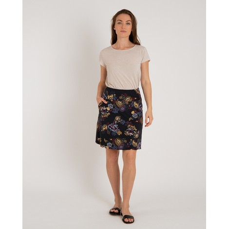 Padma Pull-On Skirt Black Print