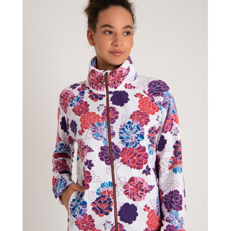 Zehma Full Zip Jacket Katha White Print