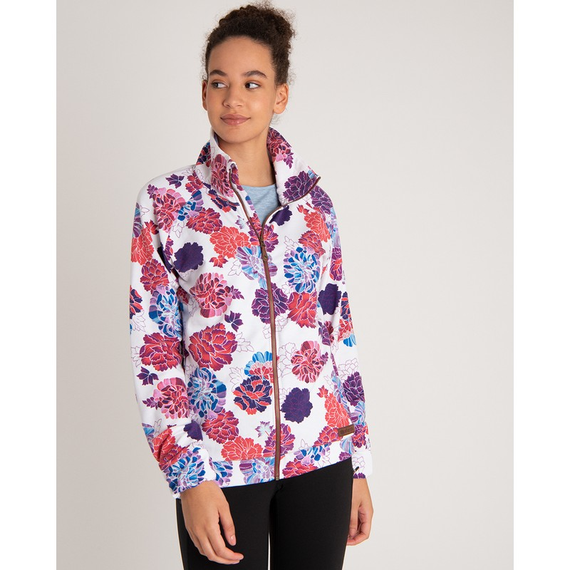 Zehma Full Zip Jacket - Katha White Print