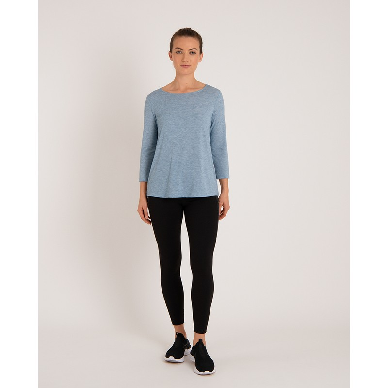 Asha 3/4 Sleeve Top - Tilicho Blue