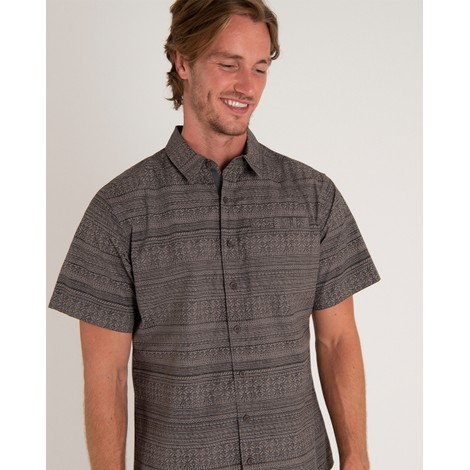 Sherpa Adventure Gear Durbar Short Sleeve Shirt in Monsoon Grey