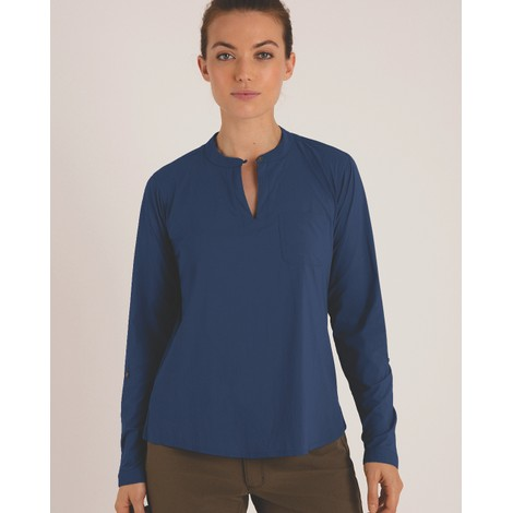 Sherpa Adventure Gear Ravi Pullover Shirt in Neelo Blue