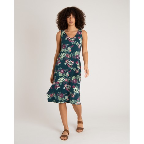 Sherpa Adventure Gear Padma Midi Dress in Rathna Green Print