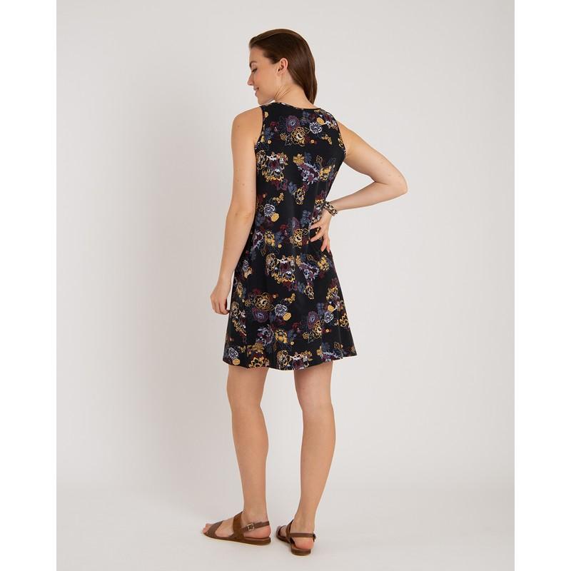 Padma Dress - Black Print