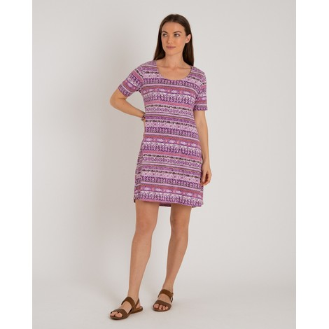 Sherpa Adventure Gear Kira Swing Dress in Aaru Plum