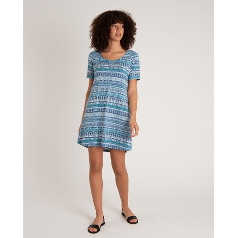Sherpa Adventure Gear Kira Swing Dress in Neelo Blue