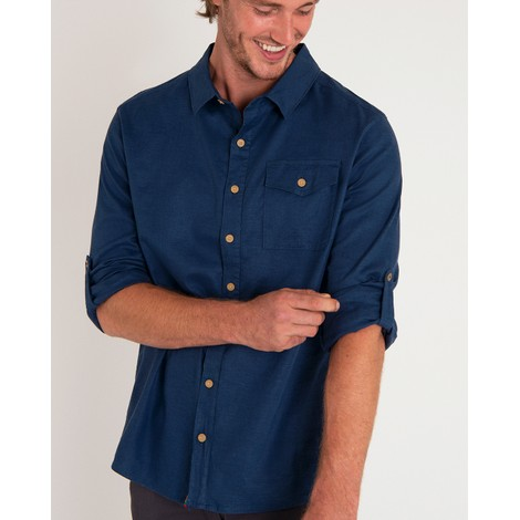 Sherpa Adventure Gear Kiran Long Sleeve Shirt in Neelo Blue