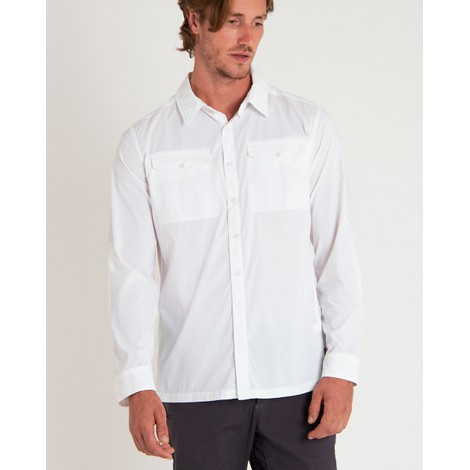 Ravi Long Sleeve Shirt Katha White