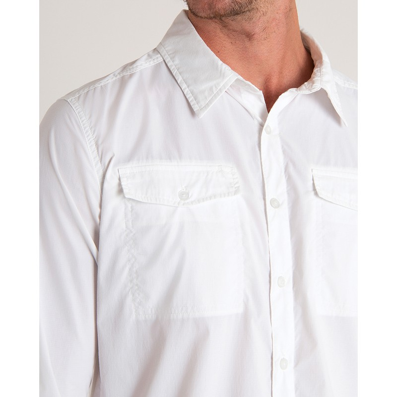 Ravi Long Sleeve Shirt - Katha White