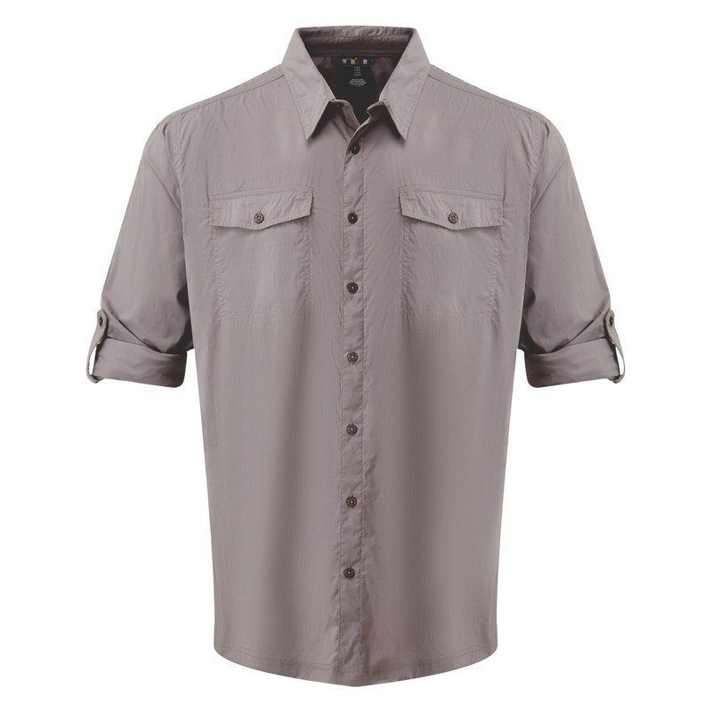 Ravi Long Sleeve Shirt - Monsoon Grey