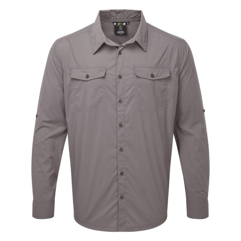 Ravi Long Sleeve Shirt Monsoon Grey