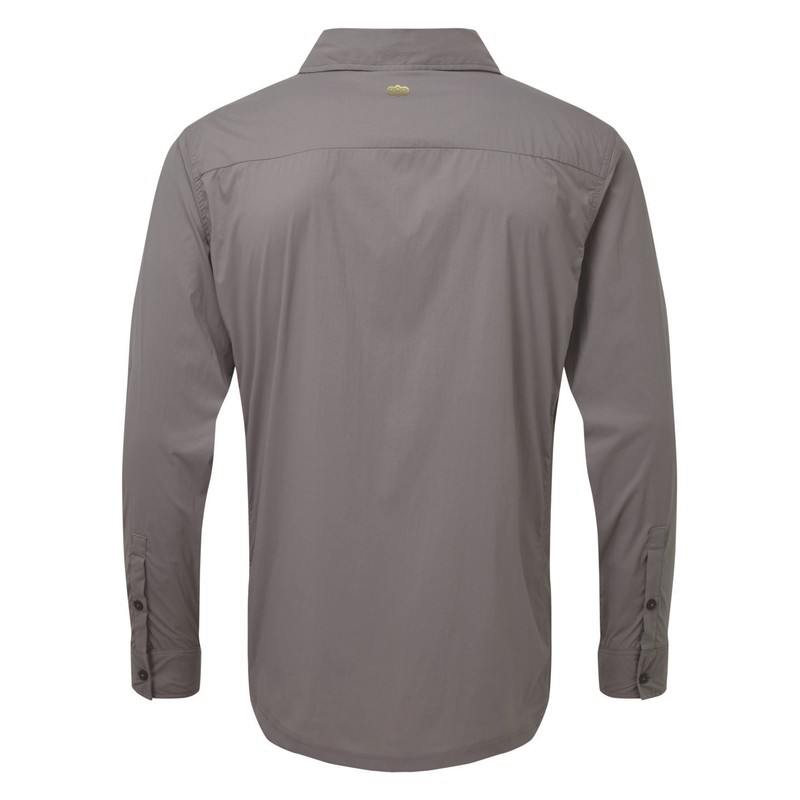 Ravi Long Sleeve Shirt - Monsoon Grey