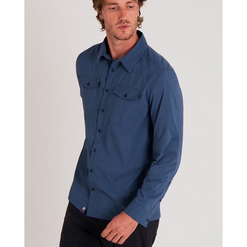Ravi Long Sleeve Shirt - Neelo Blue