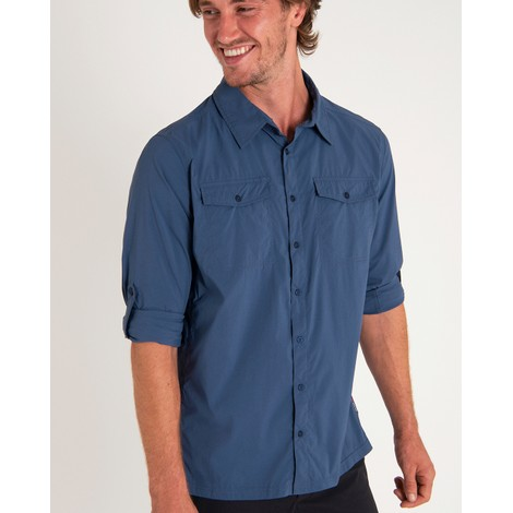 Sherpa Adventure Gear Ravi Long Sleeve Shirt in Neelo Blue