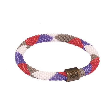Sherpa Adventure Gear Mayalu Dhaka Bracelet in Katha White