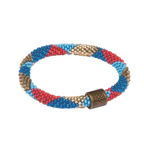 Sherpa Adventure Gear Mayalu Dhaka Bracelet in Rupa Blue