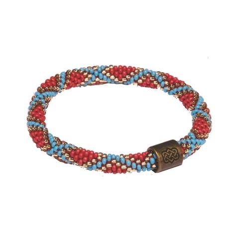 Sherpa Adventure Gear Mayalu Mughal Roll On Bracelet in Rupa Blue