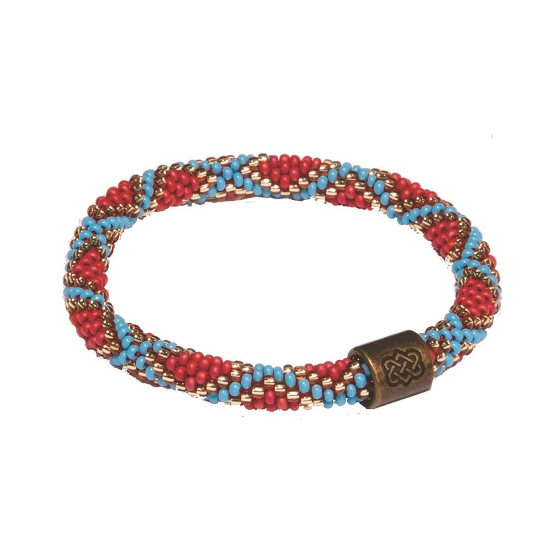 Mayalu Mughal Roll On Bracelet - Rupa Blue