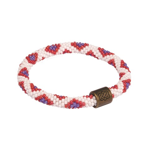 Sherpa Adventure Gear Mayalu Peacock Roll On Bracelet in Mayuri Purple