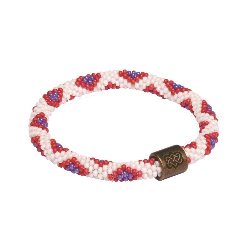 Mayalu Peacock Roll On Bracelet - Mayuri Purple