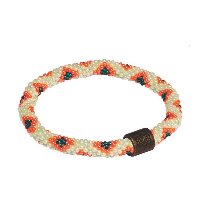 Mayalu-Armband mit Pfauen-Muster (zum Überstreifen) - Rathna Green