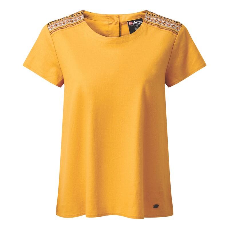 Kiran Embroidery Top - Daal Yellow
