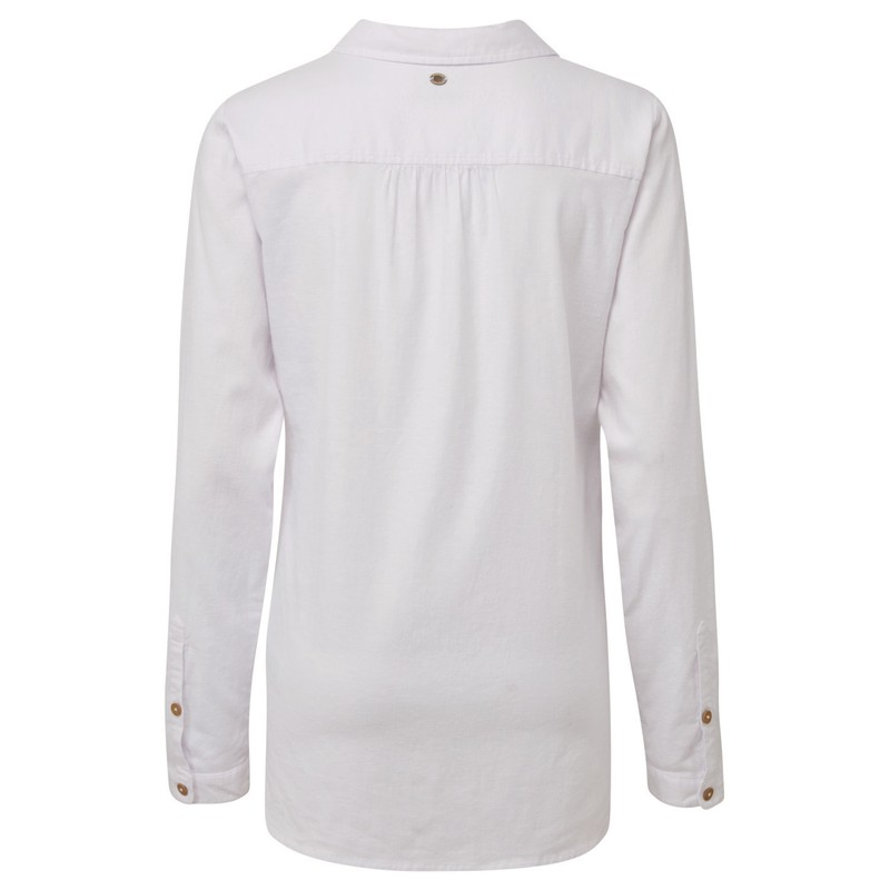 Kiran Long Sleeve Shirt - Katha White