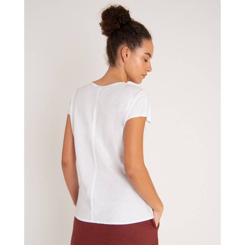 Kiran Top - Katha White