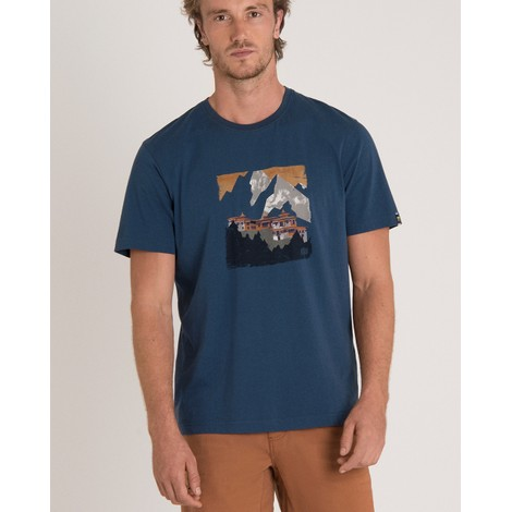 Sherpa Adventure Gear Mandir Tee in Neelo Blue